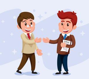 Cliente feliz de marketing digital